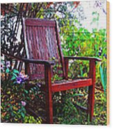 Garden Seating Wood Print