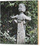 Garden Statuary Wood Print