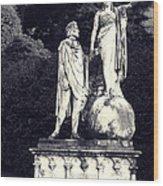 Garden Statue At Villa Capri Wood Print