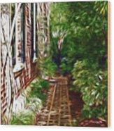 Garden Walkway Wood Print