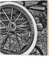 Garden Wheel Wood Print