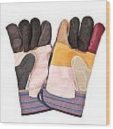 Gardening Gloves Wood Print by Tom Gowanlock