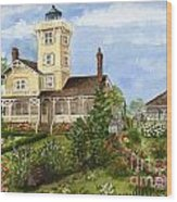 Gardens At Hereford Inlet Lighthouse  Wood Print