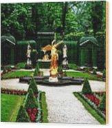 Gardens Of Linderhof Castle II Wood Print