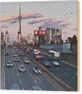 Gardiner Expressway Toronto Wood Print