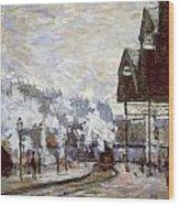 Gare Saint-lazare Wood Print