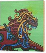 Gargoyle Dog Wood Print