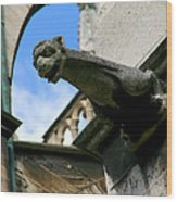 Gargoyle Of Saint Denis Wood Print