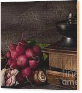 Garlic And Radishes Wood Print