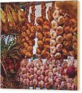 Garlic In Antwerp Wood Print
