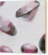 Garnet Gemstones Wood Print by Lawrence Lawry