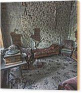 Garnet Ghost Town Hotel Parlor - Montana Wood Print by Daniel Hagerman