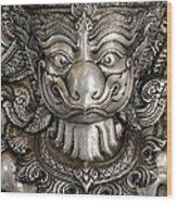 Garuda Silver Wood Print
