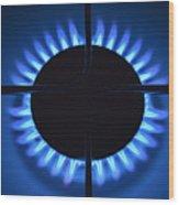 Gas Flame Wood Print
