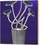 Gas Flowers Wood Print by Alice Gosling