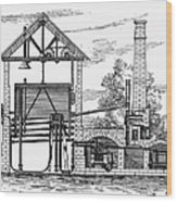 Gas Works, 1815 Wood Print