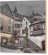 Gasthaus And Church-colour Wood Print