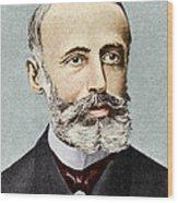 Gaston Plante, French Physicist Wood Print