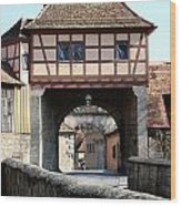 Gate House - Rothenburg Wood Print