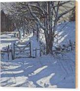 Gate Near Youlgreave Derbyshire Wood Print