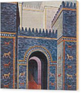 Gate Of Ishtar, Babylonia Wood Print by Photo Researchers