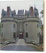 Gate To Chateau De La Bretesche Wood Print