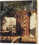 Gate To Cowboy Heaven In Old Tuscon Az Wood Print