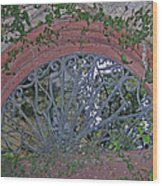 Gate To The Courtyard Wood Print