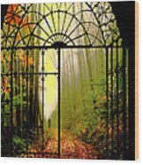Gates Of Autumn Wood Print
