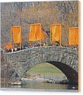 Gates Over Gapstow Bridge  Wood Print by Frank Winters