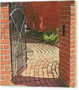 Gateway To A Garden Wood Print