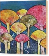 Gathering Of The Colors Wood Print
