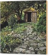 Gazebo And Path, Ballinlough Castle, Co Wood Print