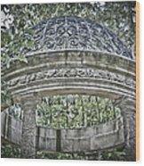 Gazebo At Longwood Gardens Wood Print