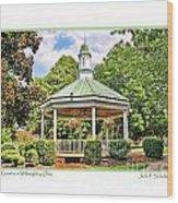 Gazebo In Willoughby Ohio Wood Print