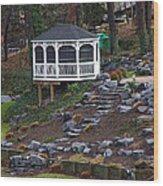 Gazebo On The Hill Wood Print