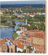 Gdansk Cityscape Wood Print