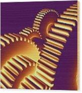 Gear Wheels, Artwork Wood Print by Pasieka