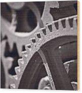 Gears Number 3 Wood Print by Steve Gadomski