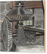 Gears Of The Old Grist Mill Wood Print