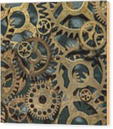 Gears Of Time Wood Print