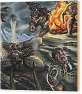Gears Of War Battle Wood Print