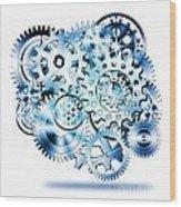 Gears Wheels Design  Wood Print