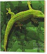 Gecko-gecko-gecko Wood Print