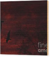 Geese Abstract Wood Print