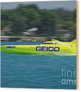 Geico Offshore Racer Wood Print