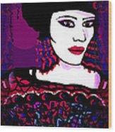 Geisha 3 Wood Print