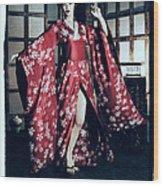 Geisha Wood Print by Maynard Ellis