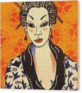 Geisha No. 1 Wood Print