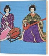 Geisha Serenade Wood Print
